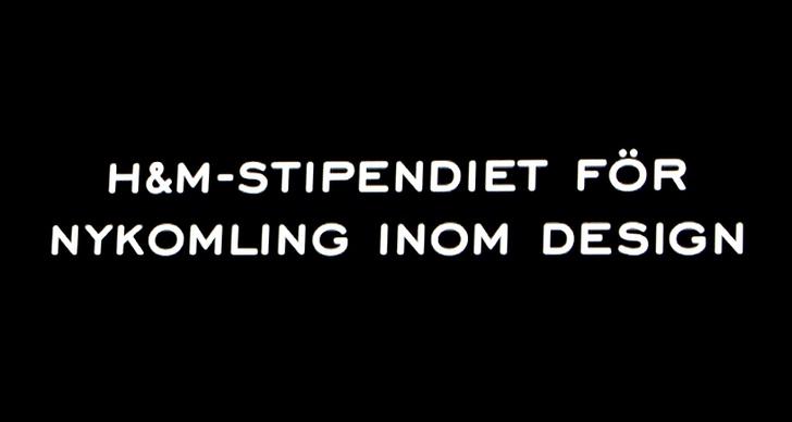 H&M-stipendiet för nykomling inom design:
