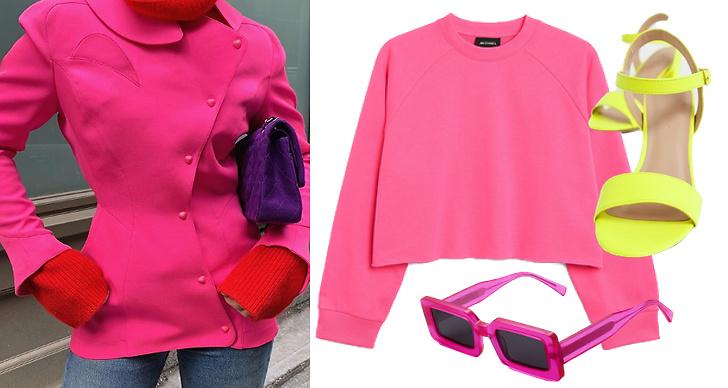 Neonfärgat, neontrend, modetrender 2019