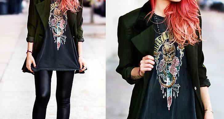 Luanna i NY från bloggen Le happy är ett välkänt ansikte på Lookbook.nu. Den mörkgröna blazern tillsammans med hennes eldiga hår är en vinnande look! http://lookbook.nu/luanna
