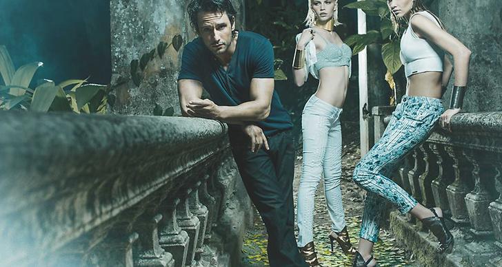 med modellerna Aline Weber och Ana Beatriz Barros