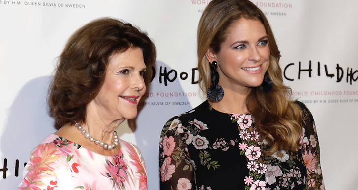 Drottning Silvia och prinsessan Madeleine Childhood galan