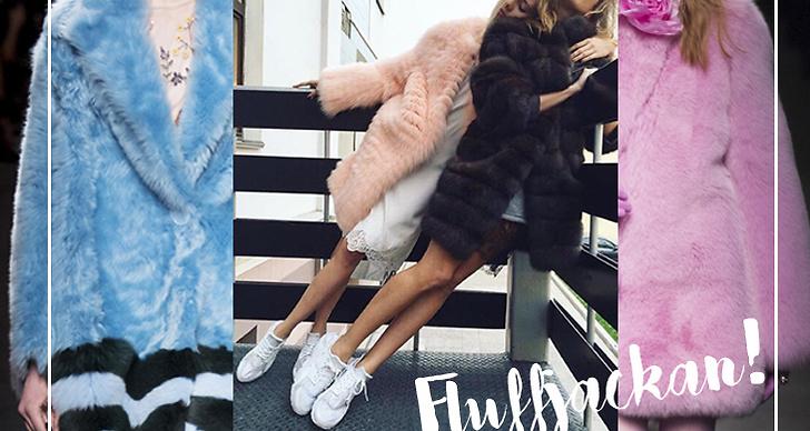 Fluff! Om du ska köpa en ny jacka till hösten ska du helt klart satsa på en fluffjacka och gärna i en härlig färg. Varför inte göra som Gucci och satsa på rosa?