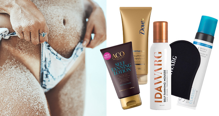 Brun utan sol, produkter, bäst i test, Ida Warg, St Tropez, Aco