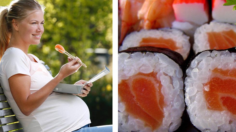 kan man äta sushi som gravid