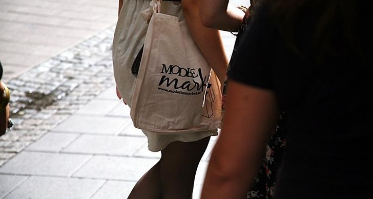 Runt Zahra Isabelles axel - Modettes populära tygpåse.