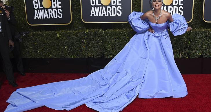 Lady Gaga på Golden Globe Awards.