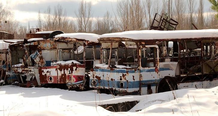 Bild från Tjernobyl som togs under 2018.