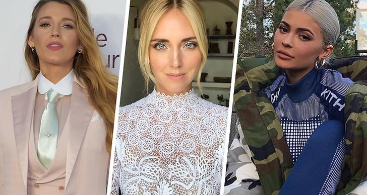 Blake Lively, Chiara Ferragni, Kylie Jenner