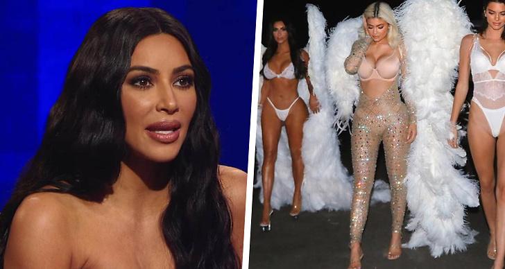 Kim Kardashian i en tv-show, Kim, Kylie och Kendall Jenner på Halloween