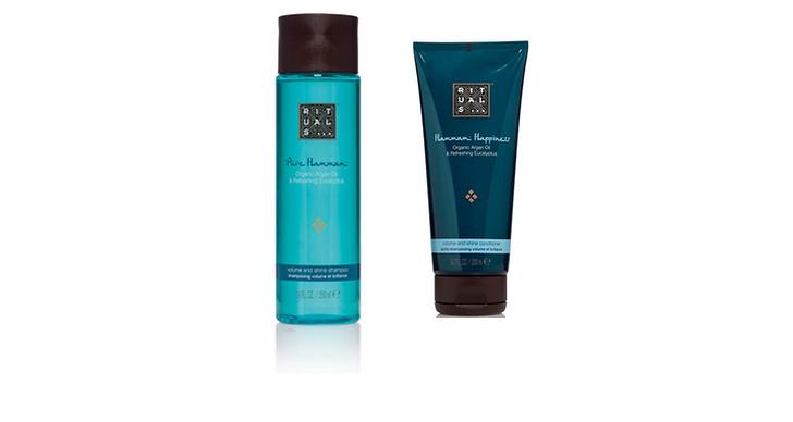 Bra schampo och balsam är A och O för ett härligt svall. Lägg några extra kronor på bra kvalité och testa dig fram för att hitta produkter som passar för just ditt hår. Schampo och balsam från Rituals, ca 100 kr/st.