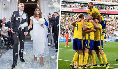 Svenska herrlandslaget i fotboll, VM, Bröllop, Landslaget