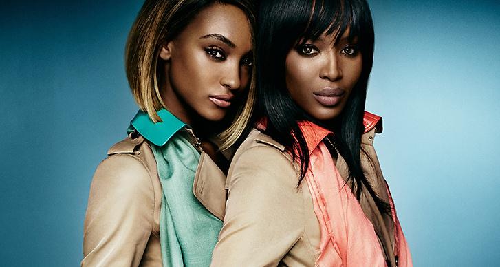 Jourdan Dunn - Naomi Campbell : Utöver det svallande vackra håret och deras fantastiska hy delar de två toppmodellerna även ett intresse för social aktivism och arbetar bland annat med försöka få modevärlden att använda mer varierande modeller.