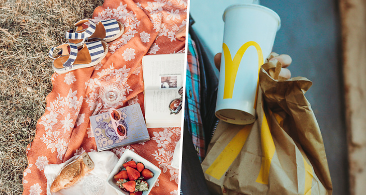 McDonalds, picknick, leverans