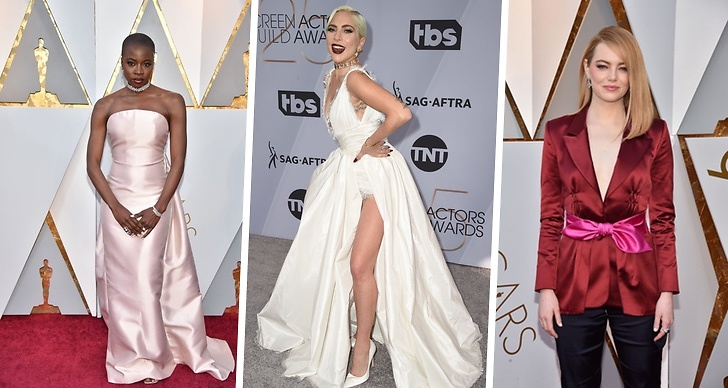 Lady Gaga, Danai Gurira, Emma Stone, Oscarsgalan