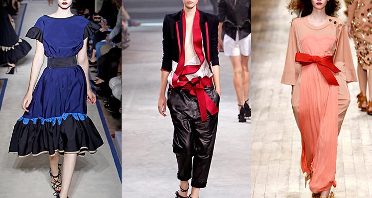 Här på catwalken för Yves Saint Lauren, Haider Ackermann och Sonia Rykiel.