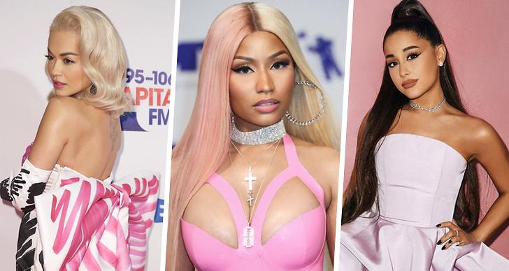 Rita Ora, Nicki Minaj och Ariana Grande.