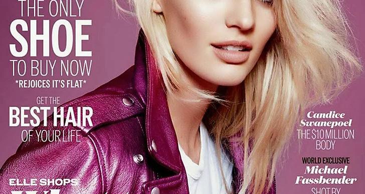 Modellen Candice Swanepoel på brittiska Elle