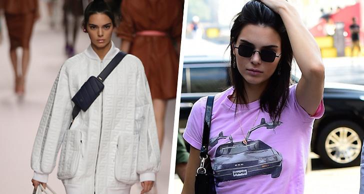 Kendall Jenner går Fendi spring summer kollektion 2019, Kendall går på gatan