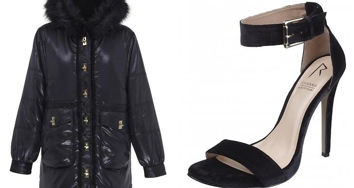 Även en vinterjacka och ett par sandaletter