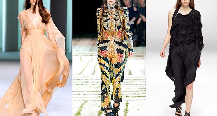 Här syns modellen i kreationer av Elie Saab, Alexander McQueen och Sharon Wauchob.