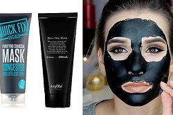 svart mask för porer
