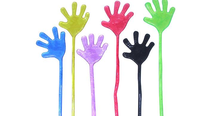Känslan när man öppnade ett nytt paket med Sticky hands – och de var ludd- och dammfria!