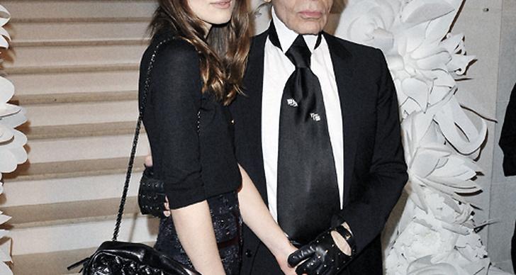 Keira Knightley och Karl Lagerfeld.