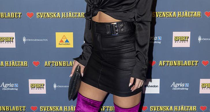 Lisa Ajax på röda mattan under Svenska Hjältar galan 2018.
