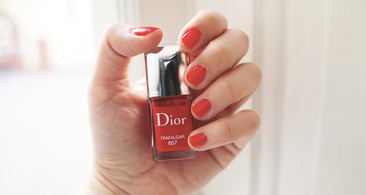 Favoritfärgen på naglarna kommer från Dior.