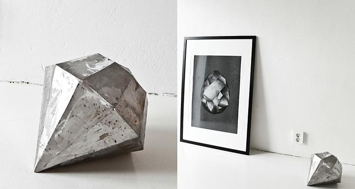 Den svenska inredningsstylisten Annalena Leino var tidig med sin metalldiamant som hon började tillverka för över två år sedan.