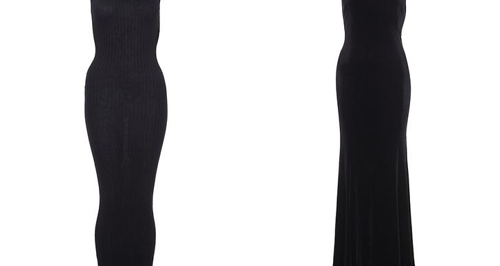 Fina svarta långklänningar