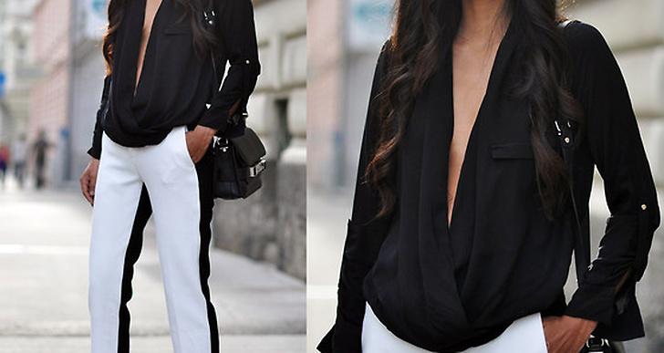 Kaxig urringning och svartvita byxor. Tyska Mayas outfit är en favorit! http://lookbook.nu/mayal