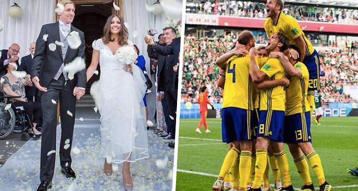 Så såg landslaget ut på deras bröllop