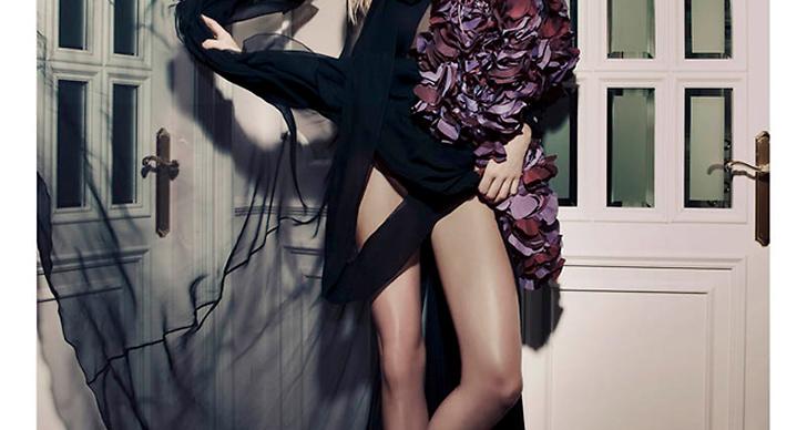 Jessica Hart för Elle Spanien.