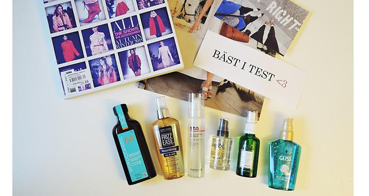 Bäst i test: Modette testar 6 stycken håroljor!