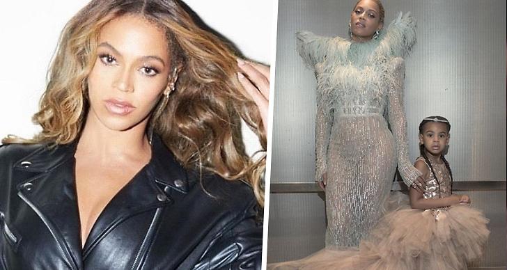 Likheter mellan Beyoncé och Blue Ivy.