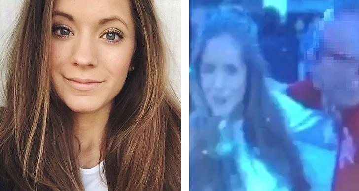 Reportern Isabel antastades av fotbollsfansen utanför Friends