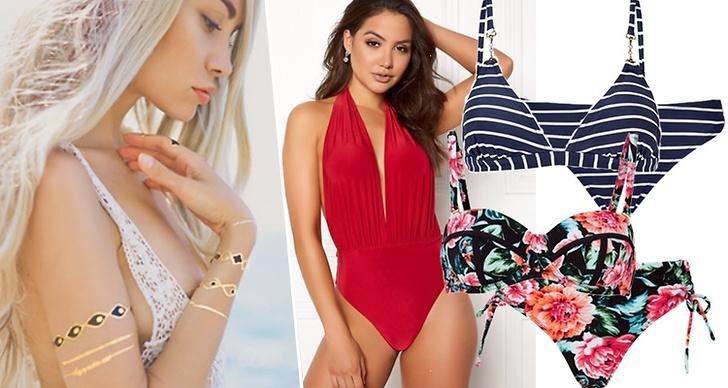 Bikinis och baddräkter till sommaren