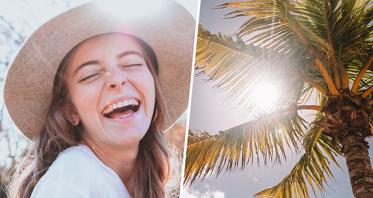 Nysa i solen, palmer, sommar