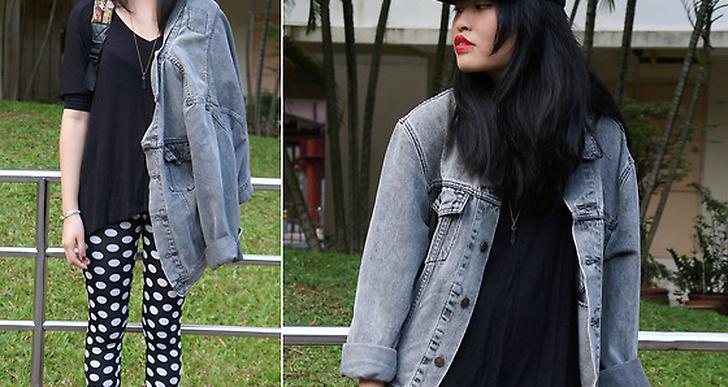 Cheryl från Singapore är cool i sin street vs. punk-stil, de röda läpparna och sammetskängorna sätter pricken över i:et. Mer looks från Cheryl här http://lookbook.nu/omgitscheryl