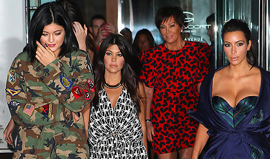 Familjen Kardashian, Kourtney Kardashian, Kanye West, Kendall Jenner, Kylie Jenner, Khloe Kardashian, Brody Jenner, Kim Kardashian, Caitlyn Jenner, Nicole Richie