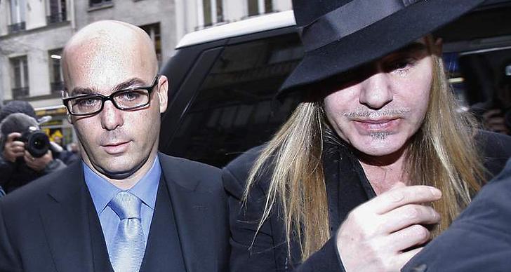 Modeskaparen med sin före detta advokat, Stéphane Zerbib.