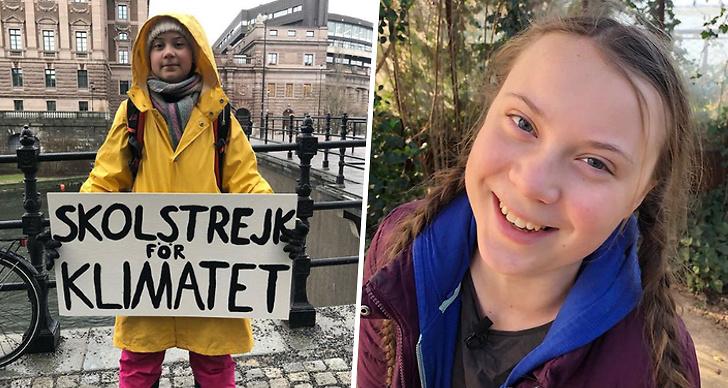 Greta Thunberg får väggmålning, klimat, miljö.