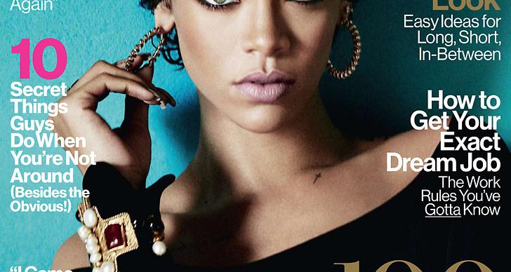 Rihanna på November-omslaget av Glamour