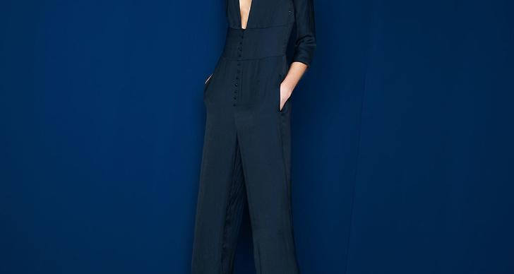 Marinblå välskräddad jumpsuit är en utav favoriterna från Zaras lookbook.