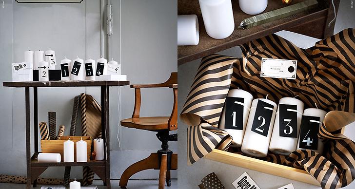 Ikea skippar ljusstaken och dekorerar direkt på ljusen.