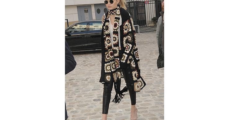 10. Utstickande accessoarer! Toppa dina vardagslook med en poncho eller sjal i ett härligt mönster a lá Gigi.