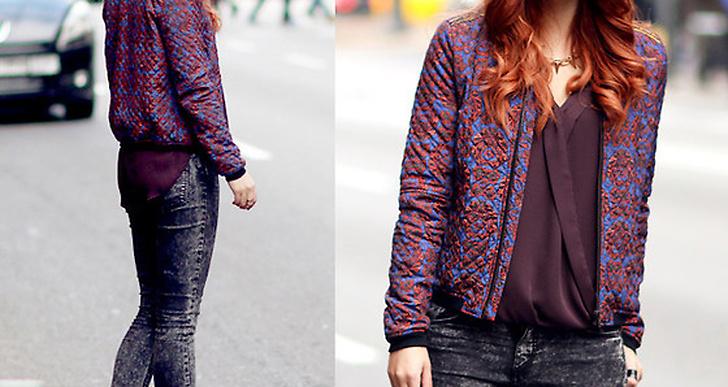 Rött hår och röda läppar - helt rätt tillsammans med Masha från Berlins streetrockiga stil. http://lookbook.nu/masha_sedgwick