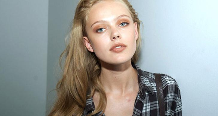 Inspireras av det svenska modellstjärnskottet Frida Gustavsson.