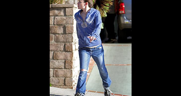 Jennifer Garner tar ett språng.